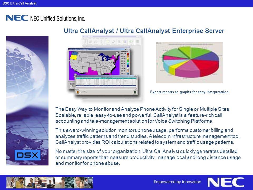 Ultra CallAnalyst / Ultra CallAnalyst Enterprise Server