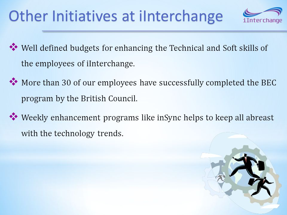 Other Initiatives at iInterchange
