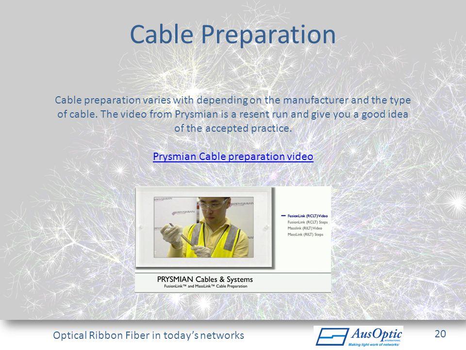 Prysmian Cable preparation video