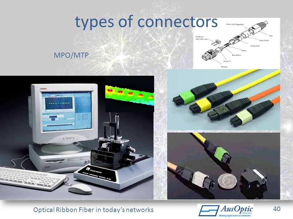 types of connectors MPO/MTP