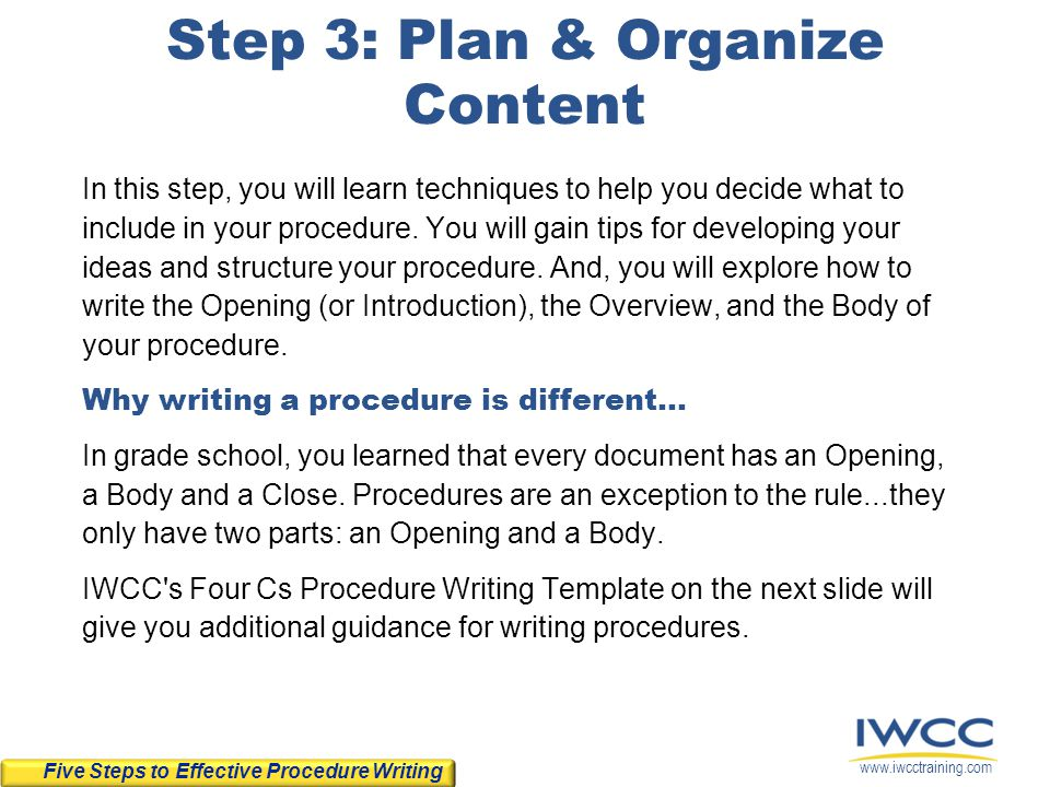 a step by step process for writing an The five basic steps of the grant writing process here's a very basic look at the steps involved in grant writing this is generally the first step.