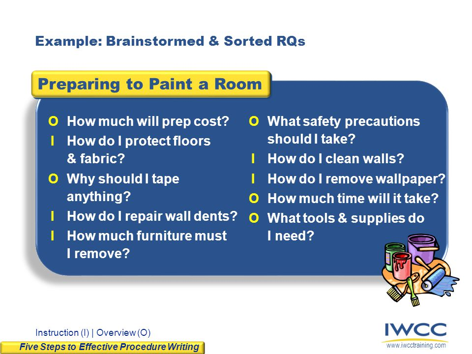 Preparing to Paint a Room