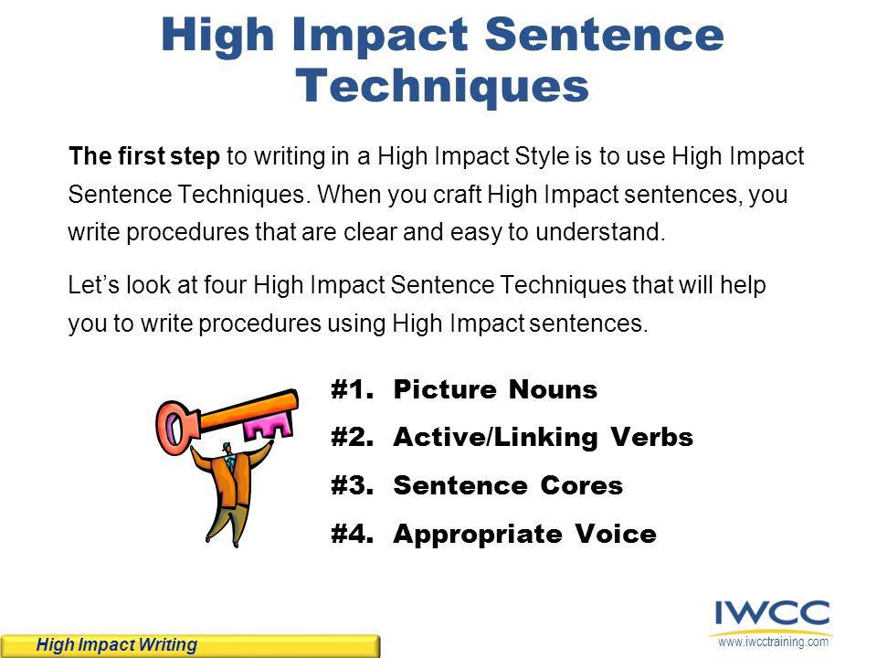 High Impact Sentence Techniques