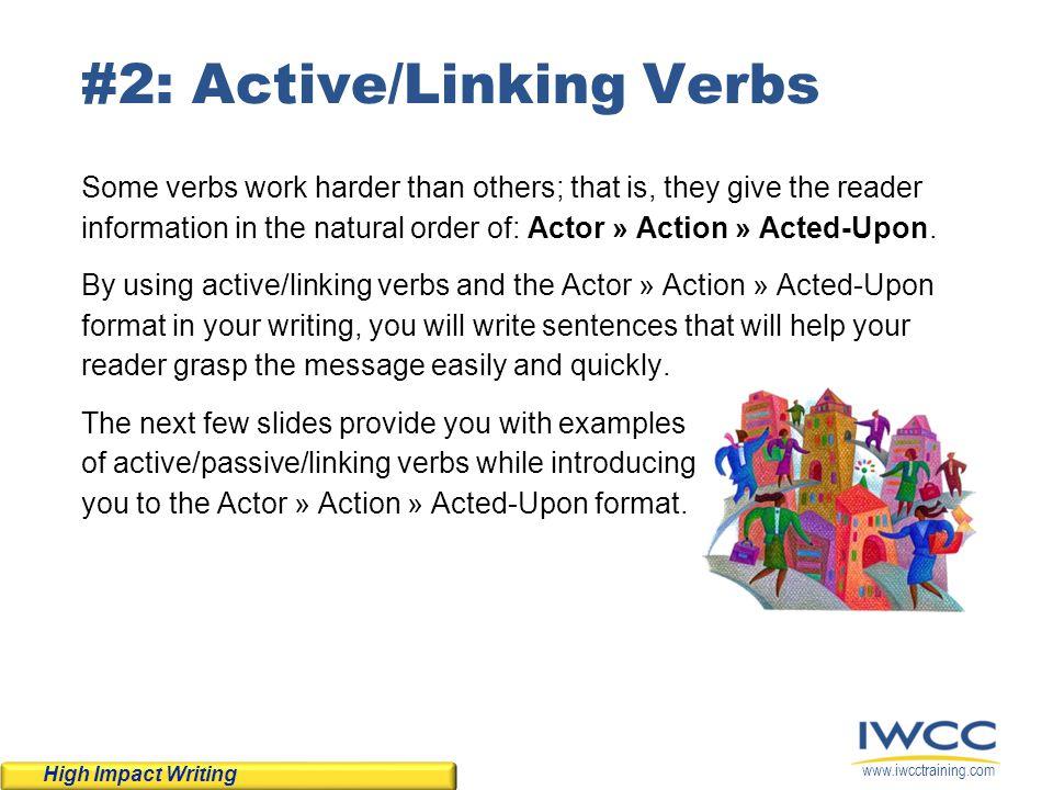 #2: Active/Linking Verbs