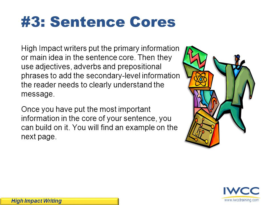 #3: Sentence Cores