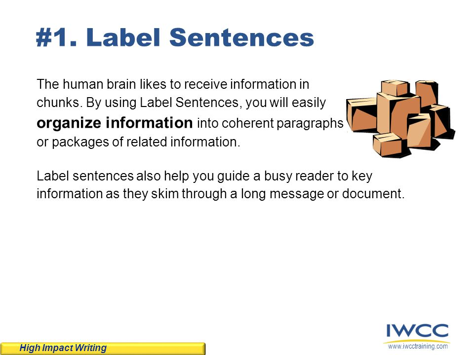 #1. Label Sentences