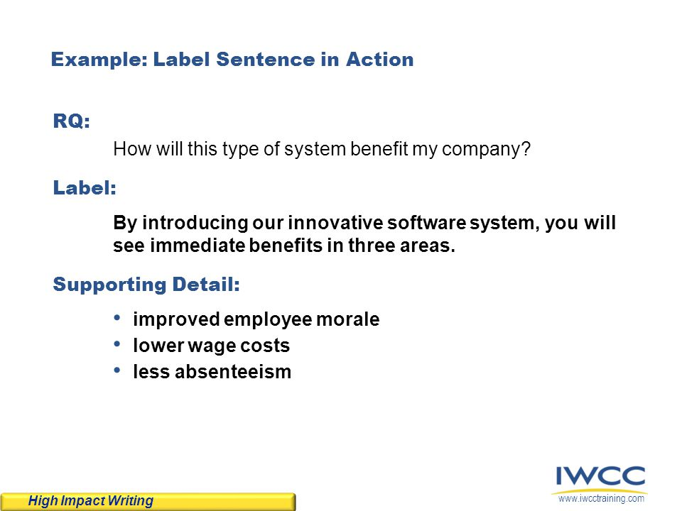 Example: Label Sentence in Action