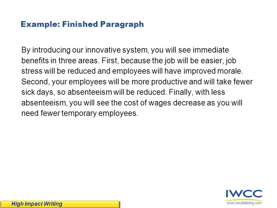 Example: Finished Paragraph