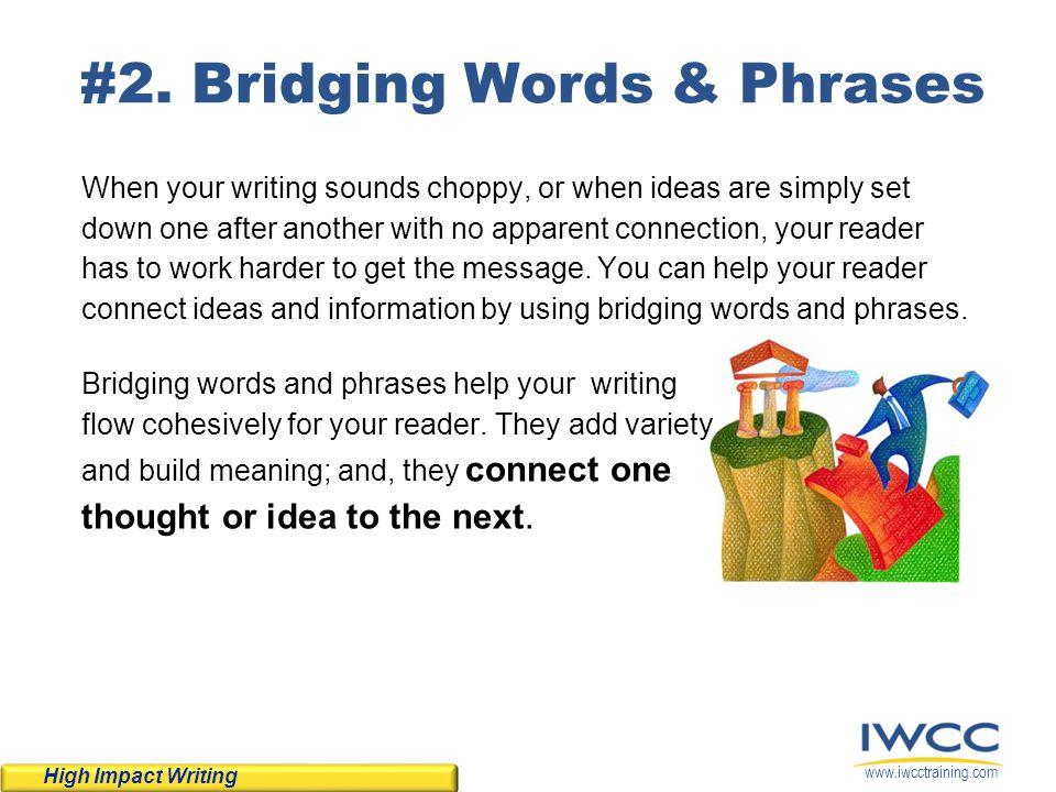 #2. Bridging Words & Phrases