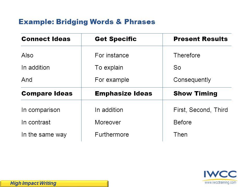 Example: Bridging Words & Phrases