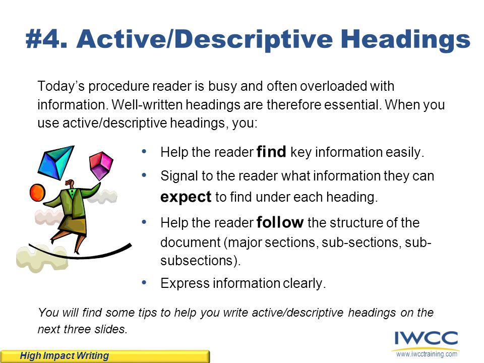#4. Active/Descriptive Headings