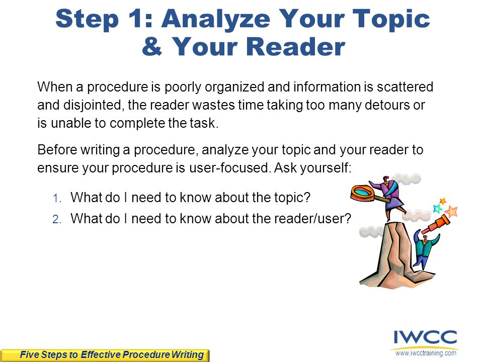 Step 1: Analyze Your Topic & Your Reader