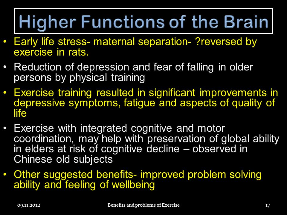 Higher Functions of the Brain