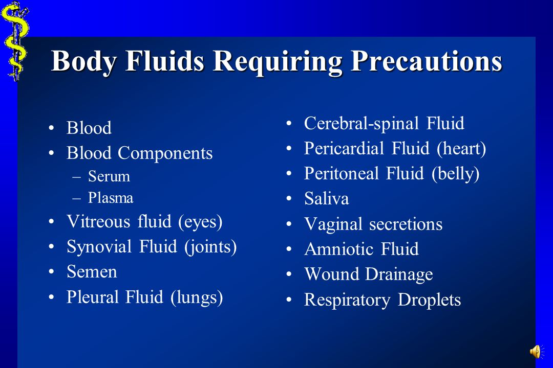 Body Fluids Requiring Precautions