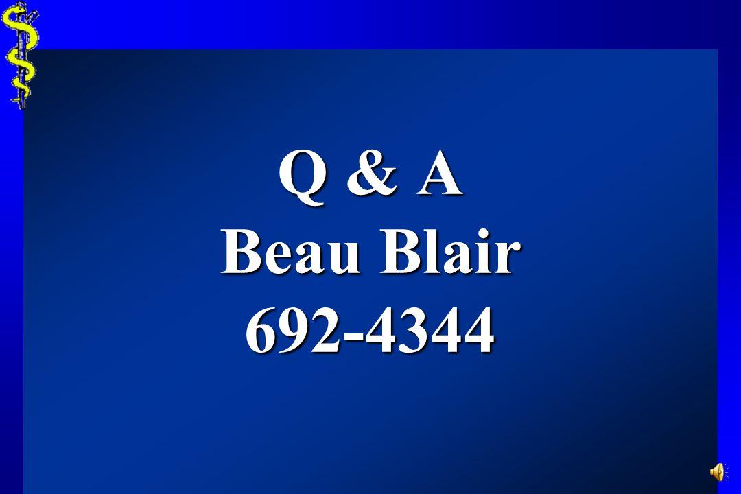 Q & A Beau Blair 692-4344