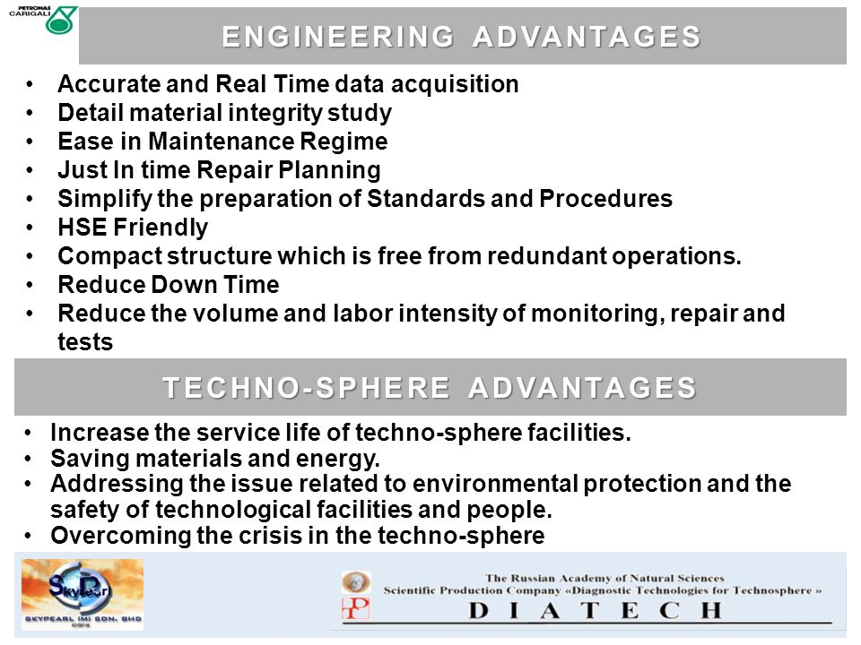 ENGINEERING ADVANTAGES TECHNO-SPHERE ADVANTAGES