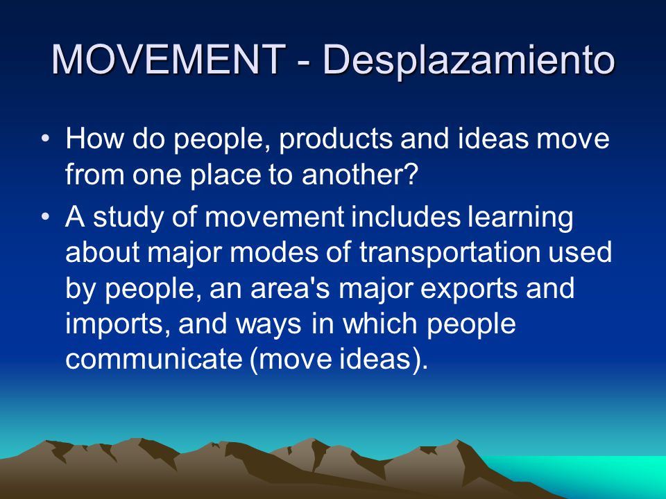 MOVEMENT - Desplazamiento