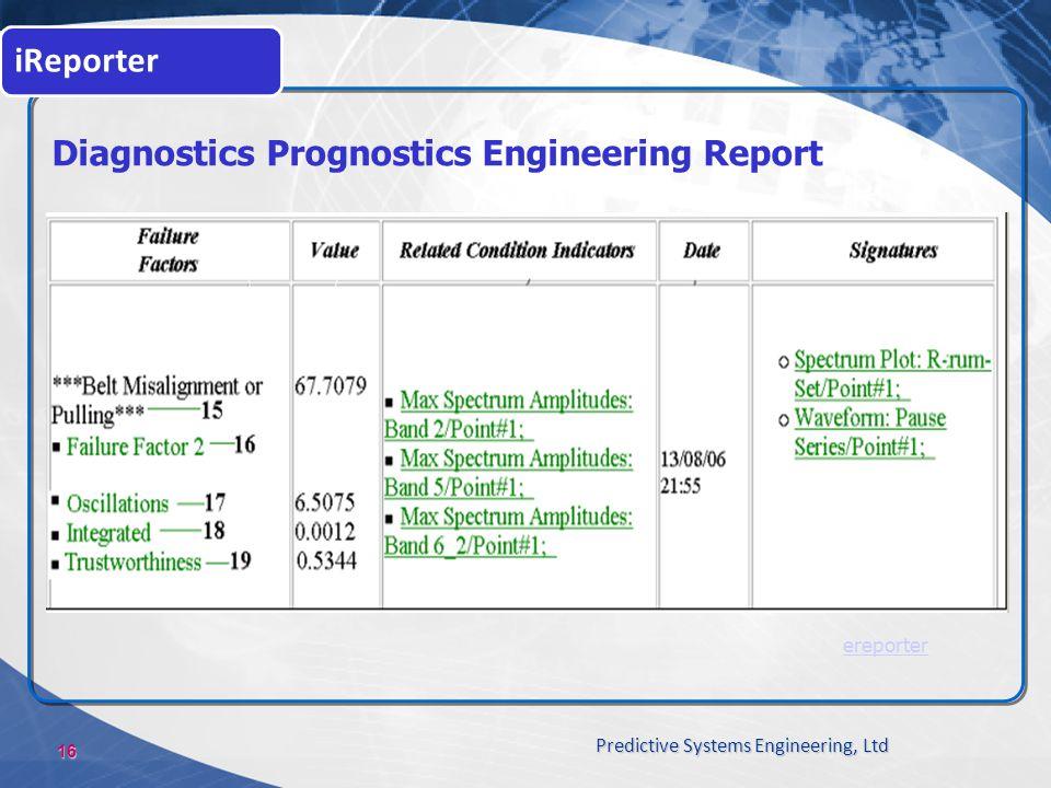 Diagnostics Prognostics Engineering Report