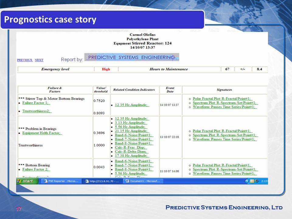 Prognostics case story