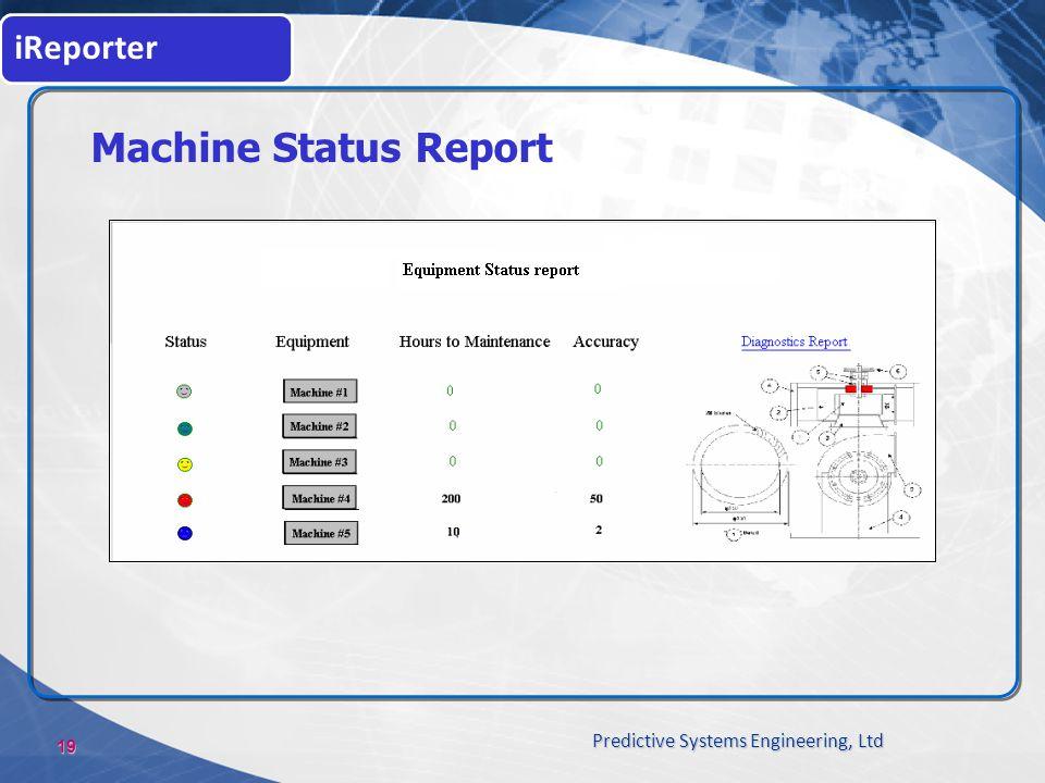 iReporter Machine Status Report