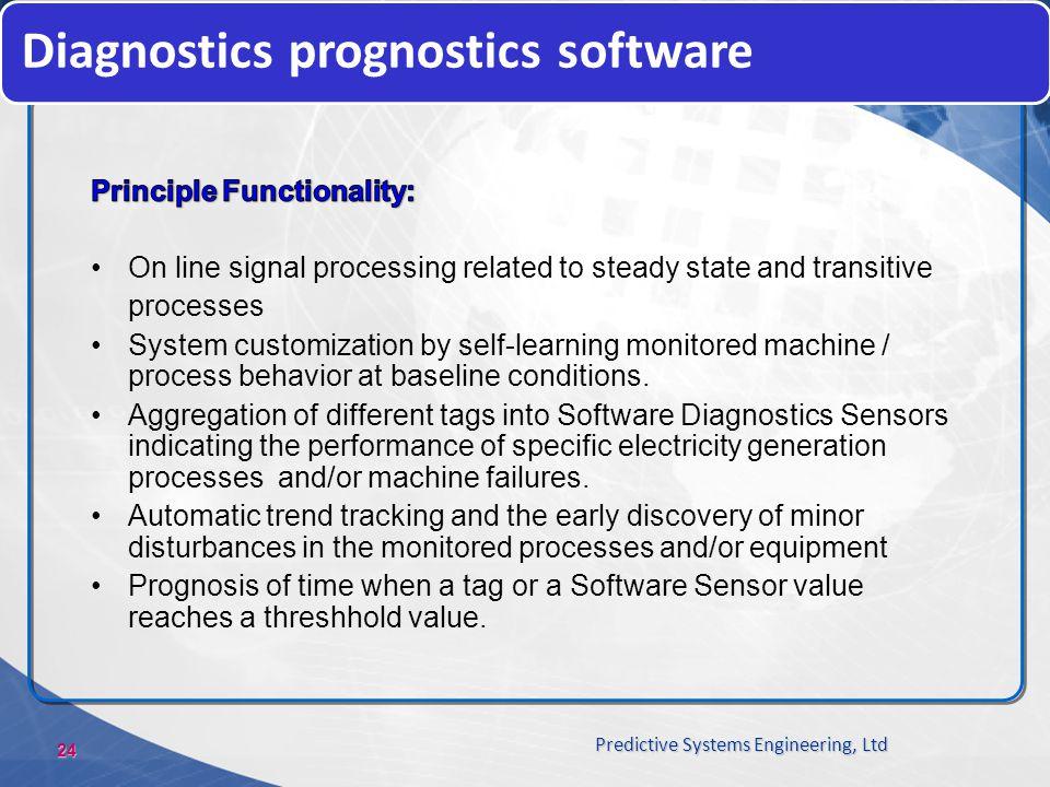 Diagnostics prognostics software