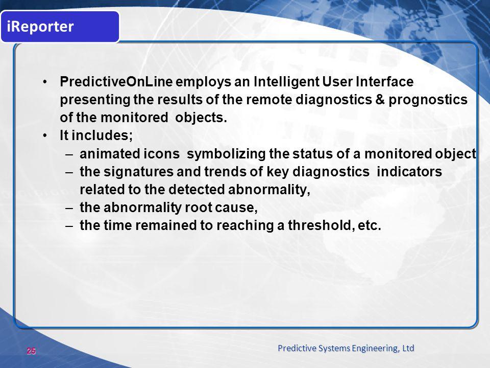iReporter PredictiveOnLine employs an Intelligent User Interface