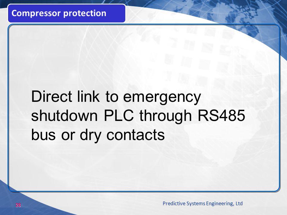 Direct link to emergency shutdown PLC through RS485
