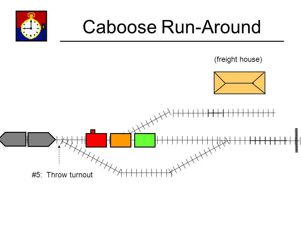 Caboose Run-Around (freight house) #5: Throw turnout