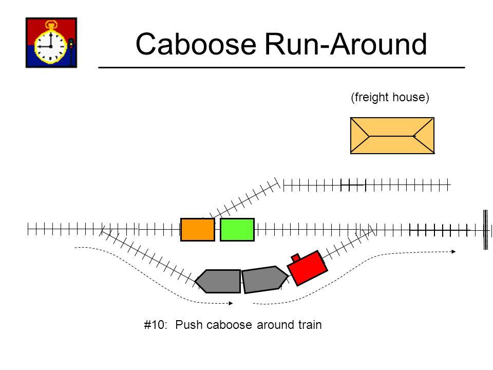 Caboose Run-Around (freight house) #10: Push caboose around train