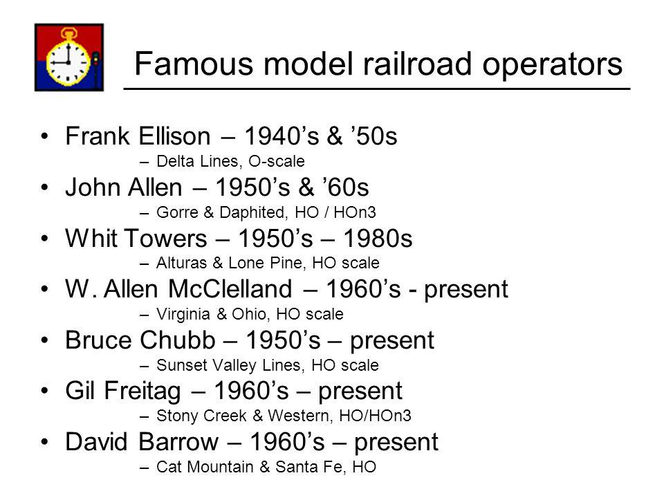 Famous model railroad operators