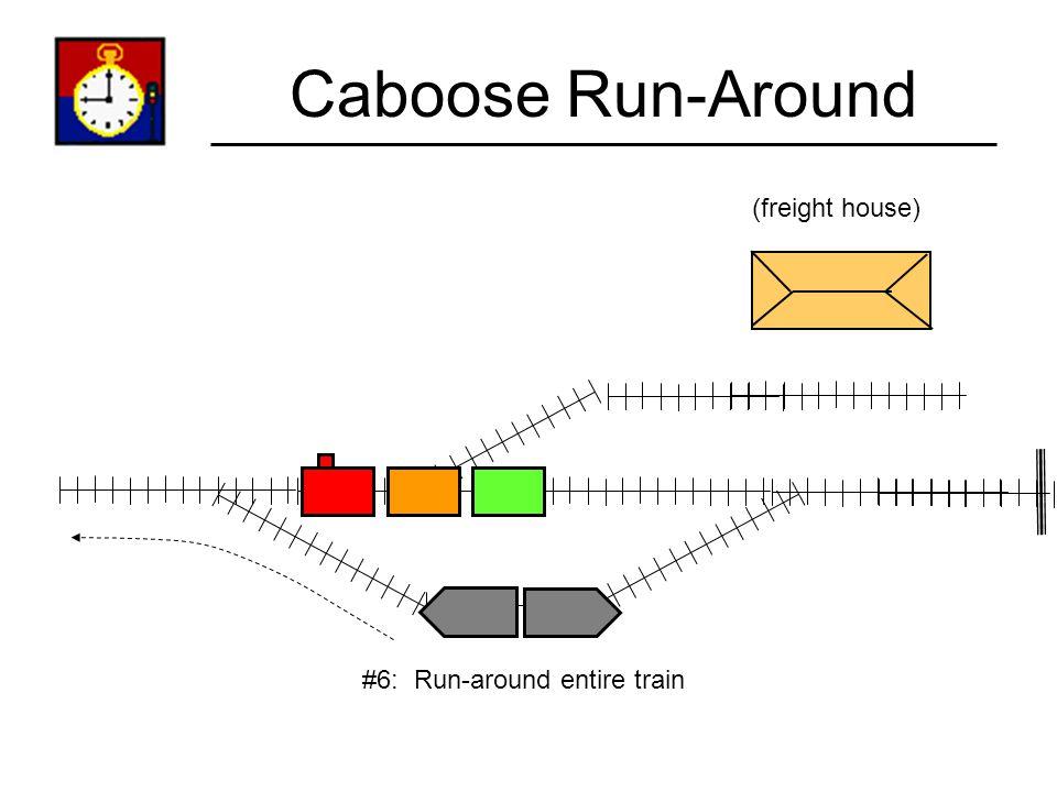Caboose Run-Around (freight house) #6: Run-around entire train