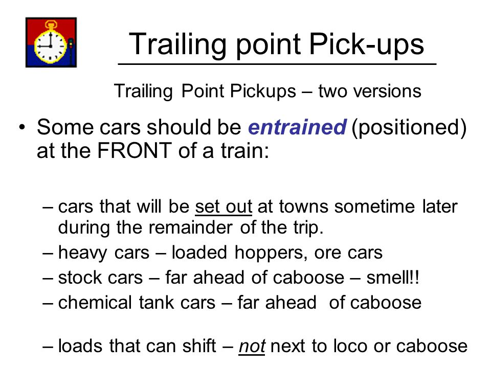 Trailing point Pick-ups