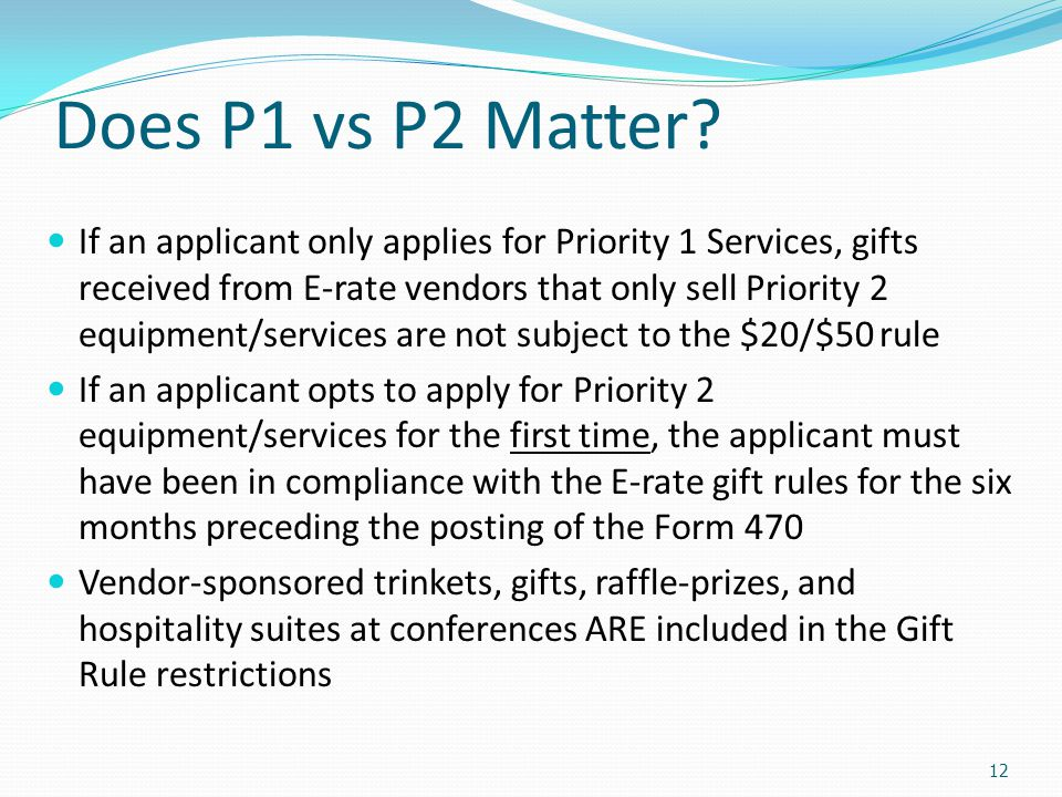 Does P1 vs P2 Matter
