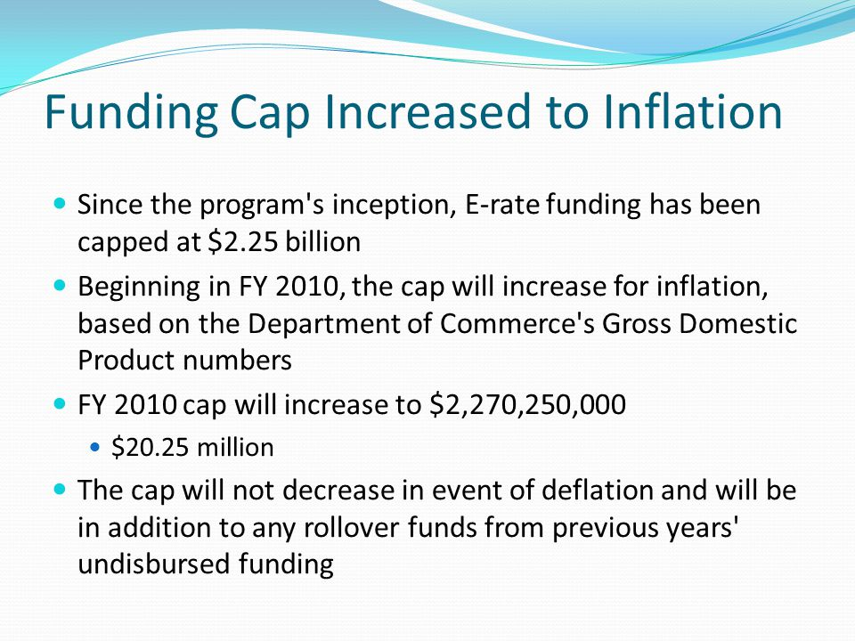 Funding Cap Increased to Inflation