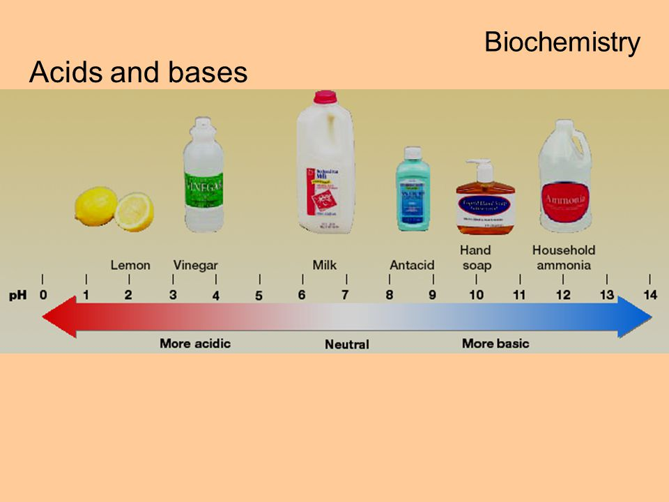 Biochemistry Acids and bases