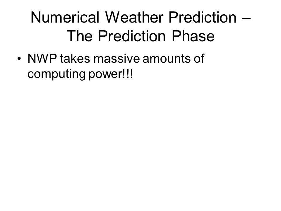 Numerical Weather Prediction – The Prediction Phase