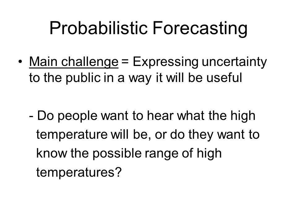 Probabilistic Forecasting