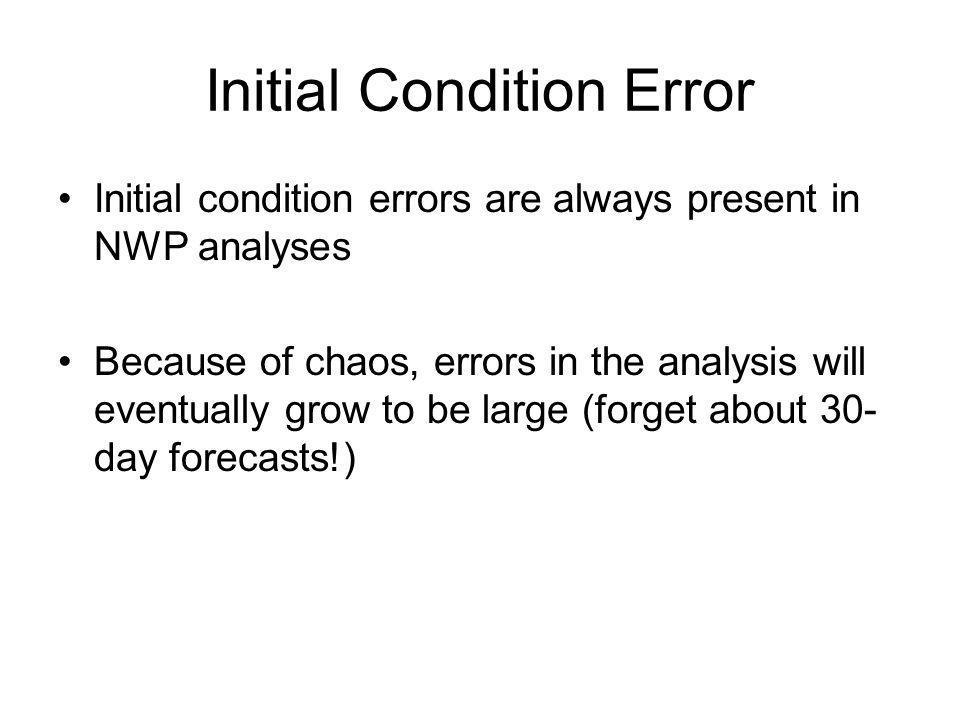 Initial Condition Error