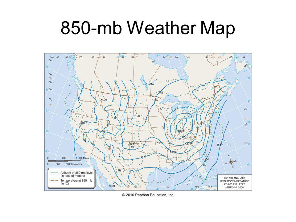 850-mb Weather Map