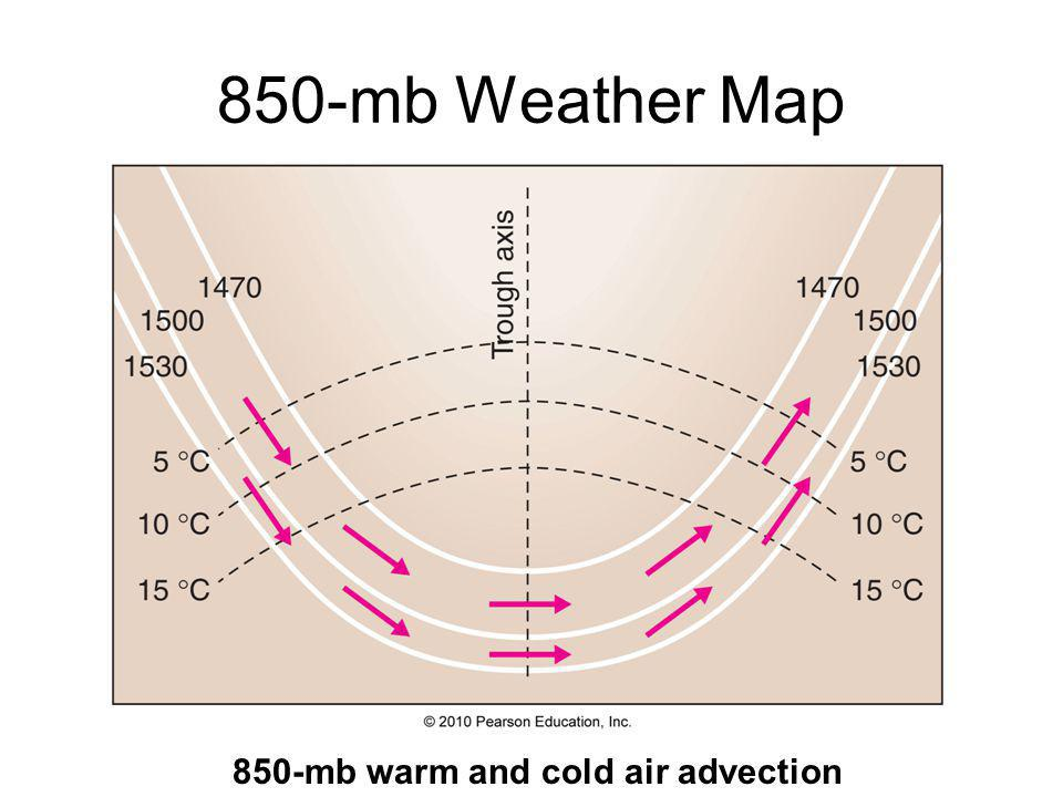 850-mb Weather Map 850-mb warm and cold air advection