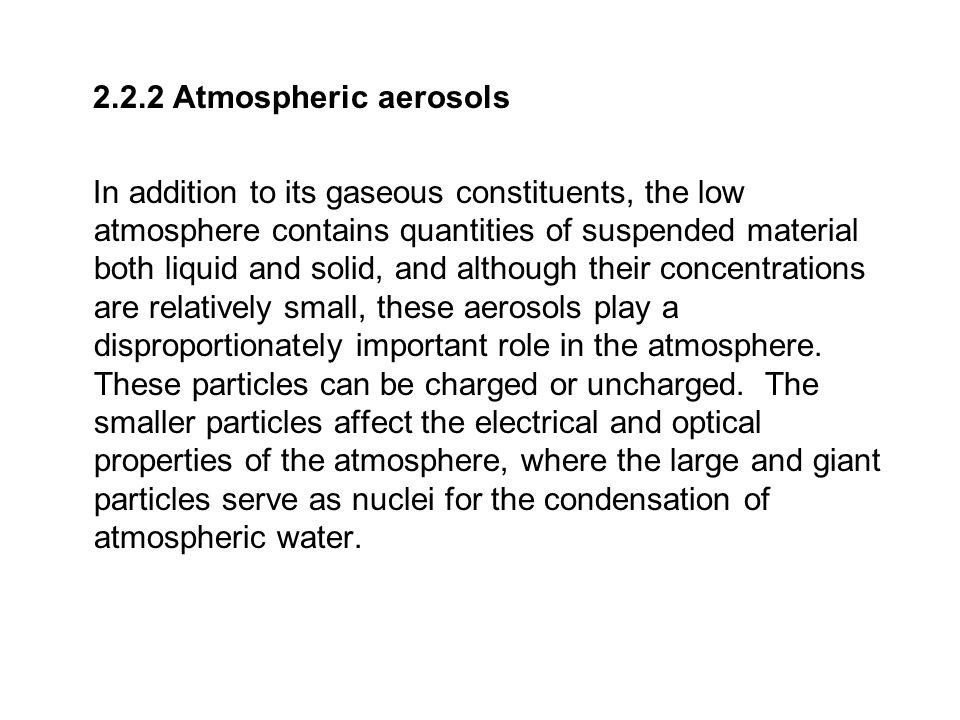 2.2.2 Atmospheric aerosols