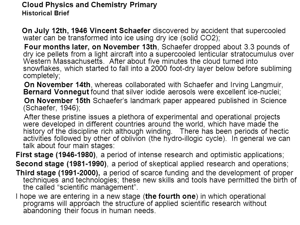 Cloud Physics and Chemistry Primary