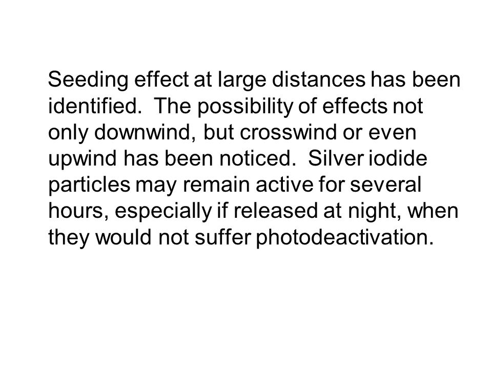 Seeding effect at large distances has been identified