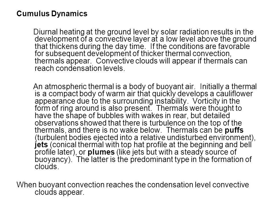 Cumulus Dynamics