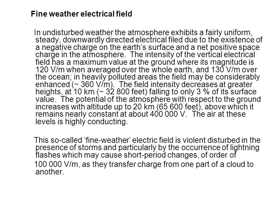 Fine weather electrical field