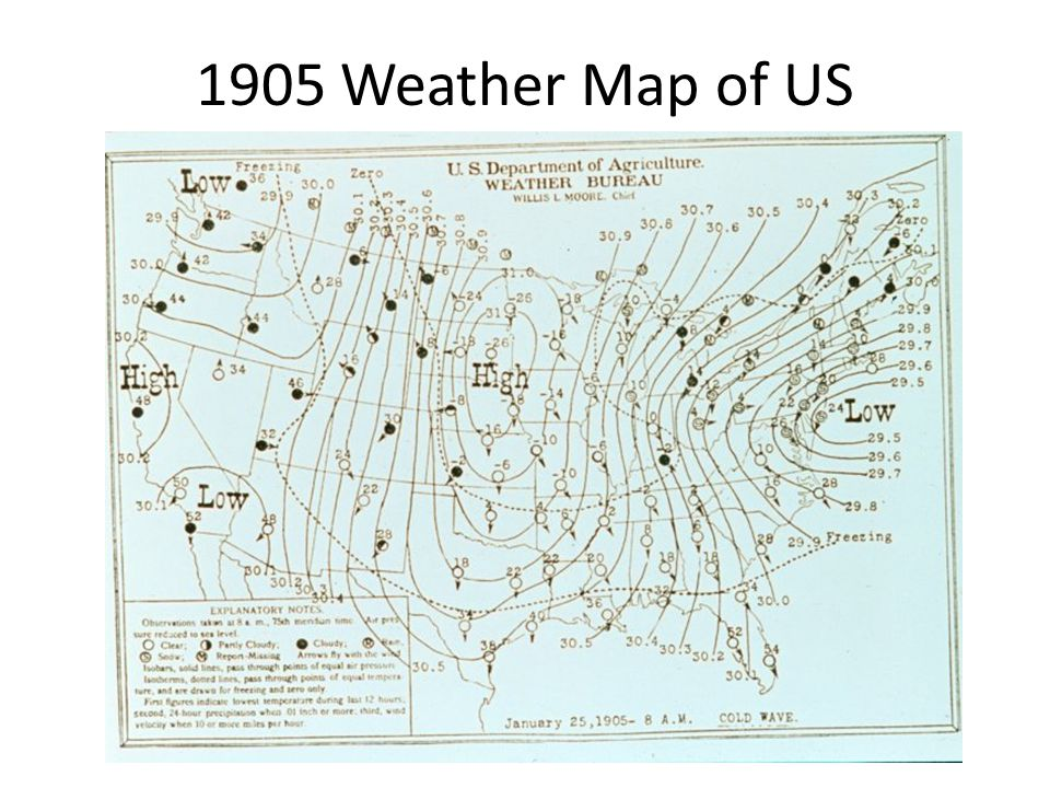 1905 Weather Map of US