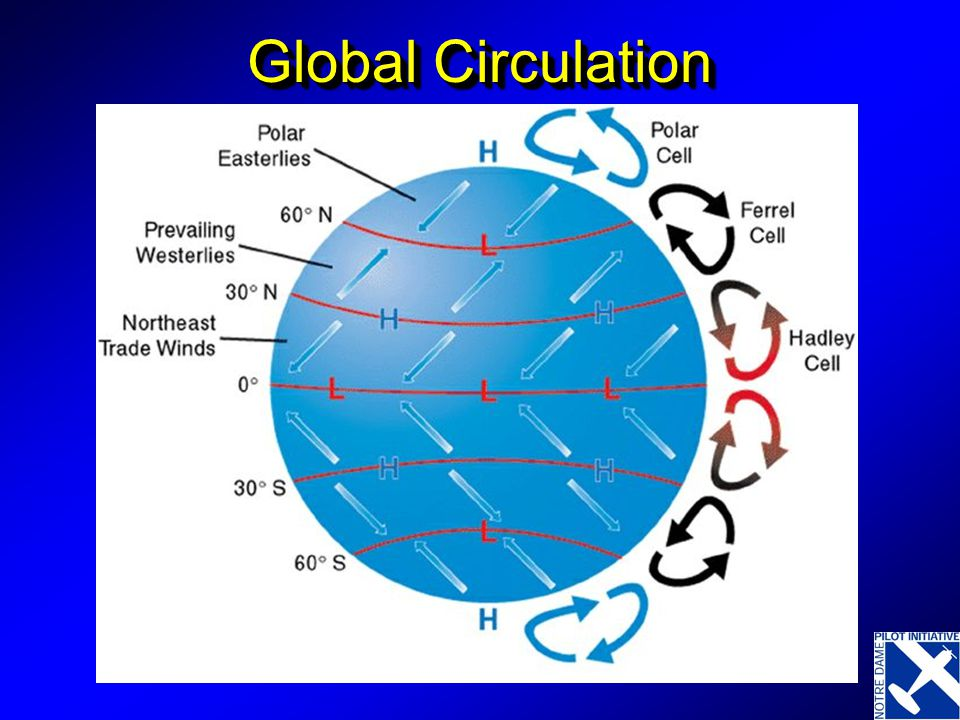 Global Circulation With Globe, Coriolis