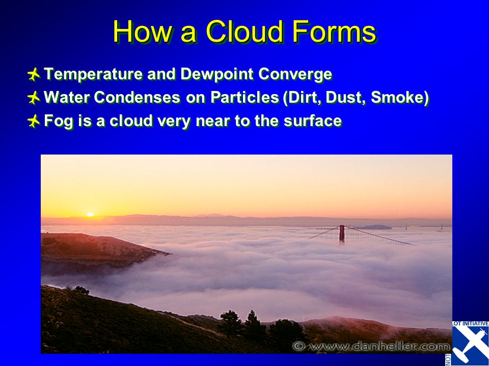 How a Cloud Forms Temperature and Dewpoint Converge