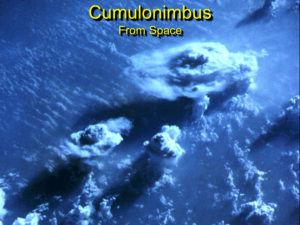 Cumulonimbus From Space