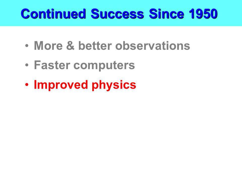 Continued Success Since 1950